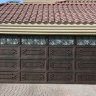 garage door of iron